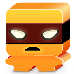 monster, orange icon