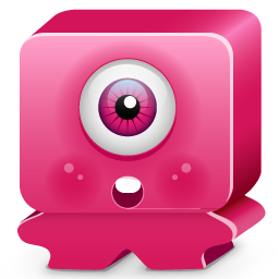 monster, pink, sorprise icon