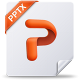 microsoft, office, powerpoint, pptx icon