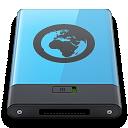 b, blue, server icon