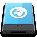 blue, server, w icon