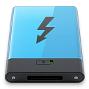 b, blue, thunderbolt icon