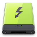 green, thunderbolt icon