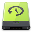 green, machine, time icon