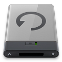 b, backup, grey icon
