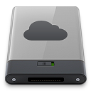 b, grey, idisk icon