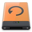 b, backup, orange icon