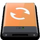 orange, sync, w icon