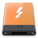 orange, thunderbolt, w icon