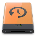 b, machine, orange, time icon