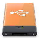 orange, usb, w icon