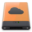 b, idisk, orange icon