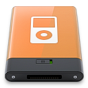 ipod, orange, w icon