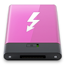 pink, thunderbolt, w icon