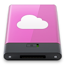 idisk, pink, w icon
