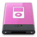 ipod, pink, w icon