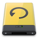 backup, yellow icon