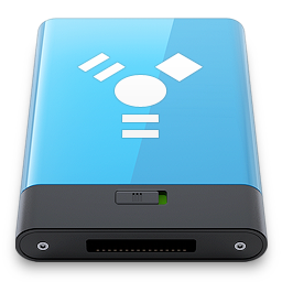 blue, firewire, w icon