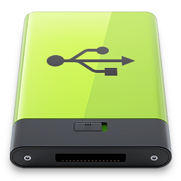 green, usb icon