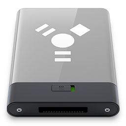 firewire, grey, w icon