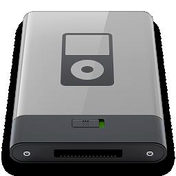 b, grey, ipod icon