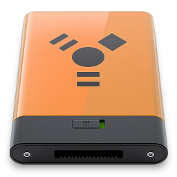 b, firewire, orange icon