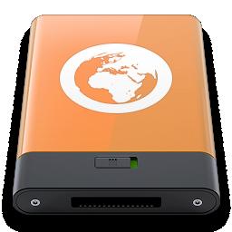 orange, server, w icon