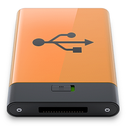 b, orange, usb icon