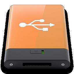 orange, usb, w icon