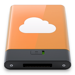 idisk, orange, w icon