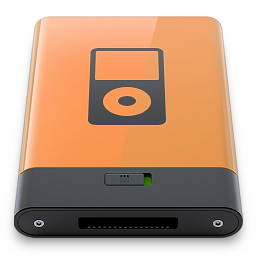b, ipod, orange icon
