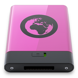 b, pink, server icon