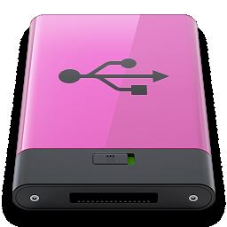 b, pink, usb icon