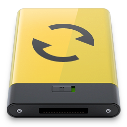 sync, yellow icon