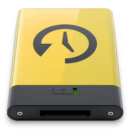 machine, time, yellow icon
