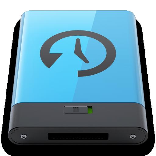 b, blue, machine, time icon