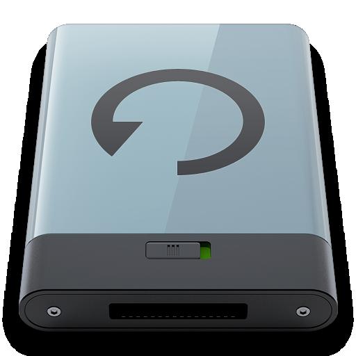 b, backup, graphite icon