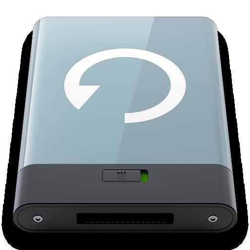 backup, graphite, w icon