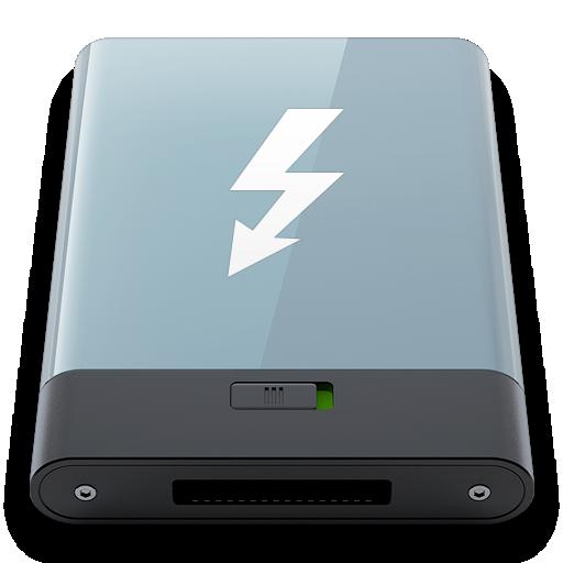 graphite, thunderbolt, w icon