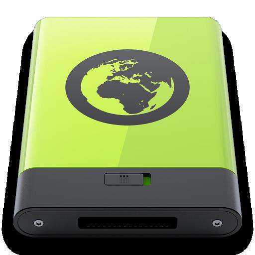 green, server icon