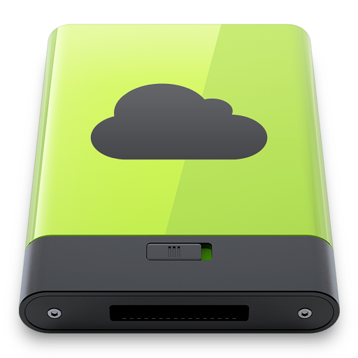 green, idisk icon