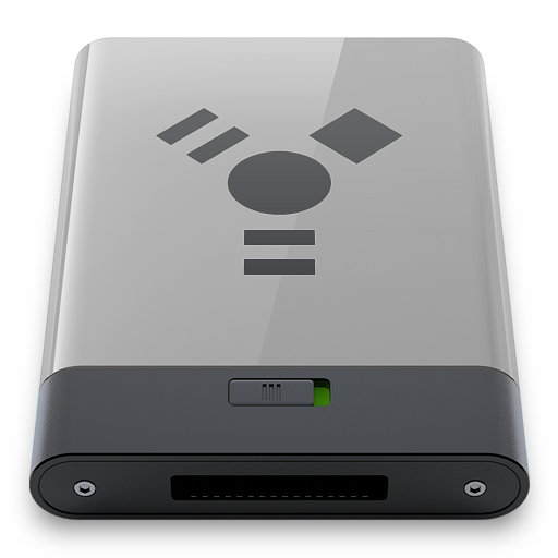b, firewire, grey icon