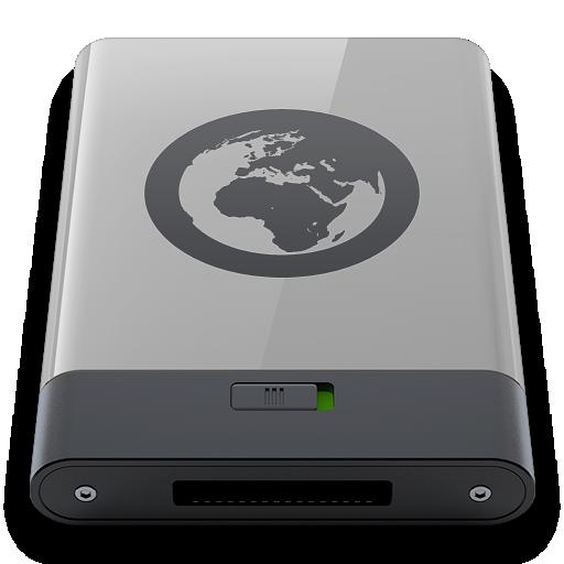 b, grey, server icon