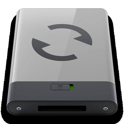 b, grey, sync icon