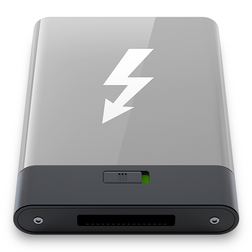 grey, thunderbolt, w icon