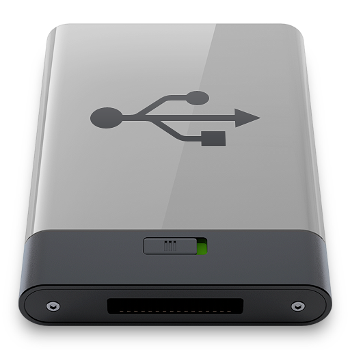 Grey, usb, b icon - Free download on Iconfinder