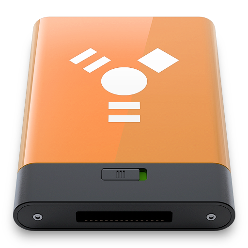 firewire, orange, w icon