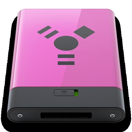 b, firewire, pink icon