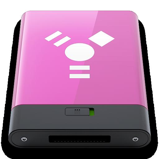 firewire, pink, w icon