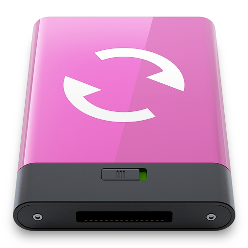 pink, sync, w icon
